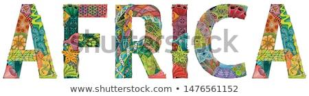 Palabra África vector objeto decoración arte Foto stock © Natalia_1947