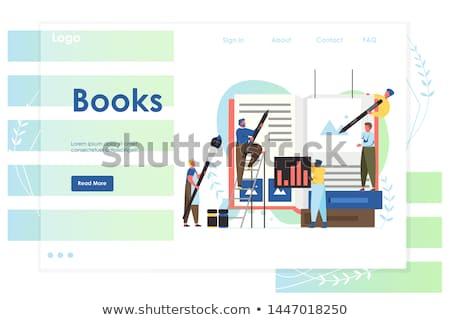 festa · ilustração · vizinhos · homem · mulheres · bem-vindo - foto stock © rastudio
