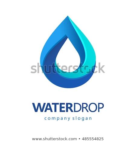 ドロップ 水 ベクトル ロゴデザイン テンプレート 清浄水 ストックフォト © kyryloff