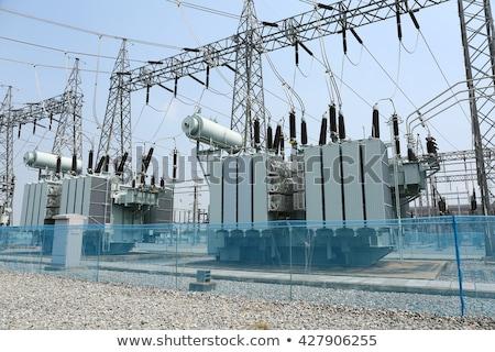 Erő transzformátor technológia tájkép installáció munka Stock fotó © dariazu
