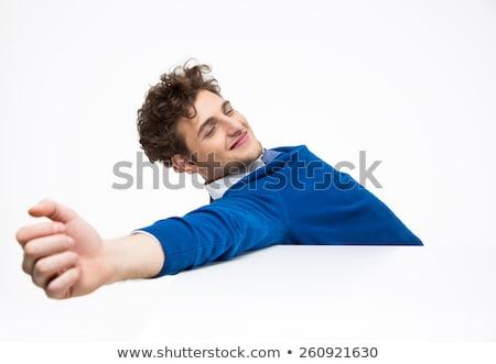 cansado · sonolento · senior · homem · sessão · secretária - foto stock © andreypopov
