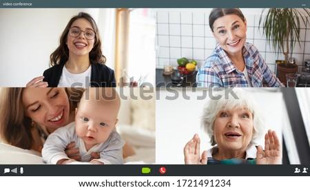 çok güzel bebek bakıyor dizüstü bilgisayar ekran genç Stok fotoğraf © lichtmeister