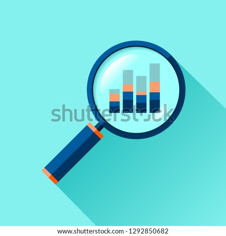 Magnifying Glass, Researching Flat Element Vector Stock photo © robuart
