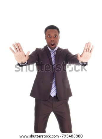 Businessman holding his hand in a stop gesture Stock photo © photography33