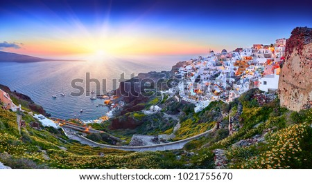 Santorini island Stock photo © ajlber