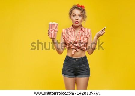 Portrait of sexy blonde girl looking at camera. Stock photo © PawelSierakowski