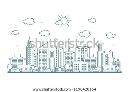 Városkép épület építészet felhőkarcoló torony kint Stock fotó © zzve