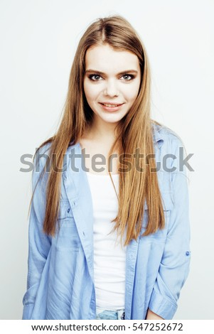 Attractive modern blonde girl posing. Stock photo © NeonShot