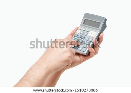 Simulateur mains Homme financière affaires banque Photo stock © fantazista