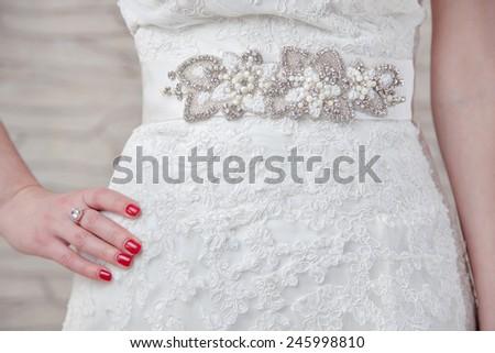 ウェディングドレス ベルト 写真 セクシー ファッション カップル ストックフォト © Nneirda