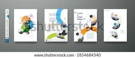 blue minimal shape brochure design Stock photo © SArts