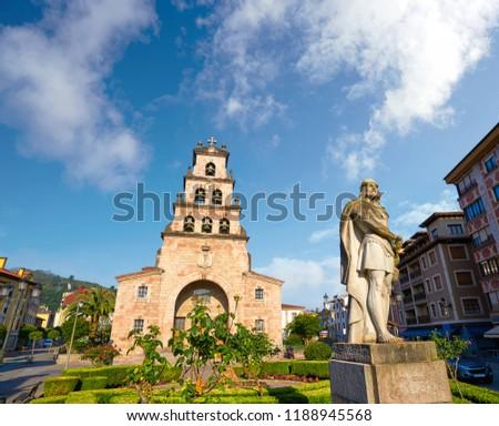 Cangas de Onis church in Asturias Spain Stock photo © lunamarina