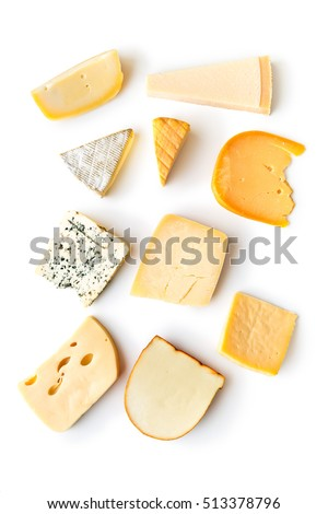 Different kinds of food on white background Stock photo © colematt