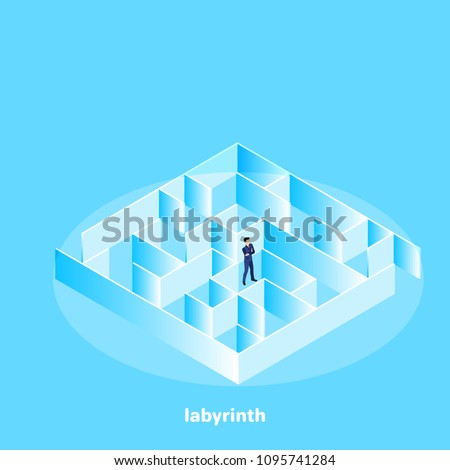 Businessman standing in a middle of a maze Stock photo © ra2studio