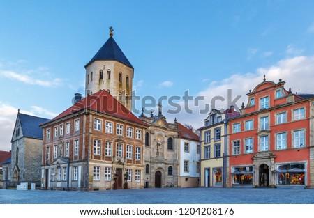 Templom Németország katedrális tér ellenkező ház Stock fotó © borisb17