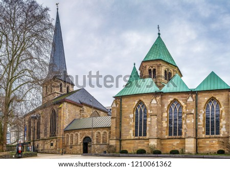 Essen Minster and St. Johann Baptist church, Germany Stock photo © borisb17