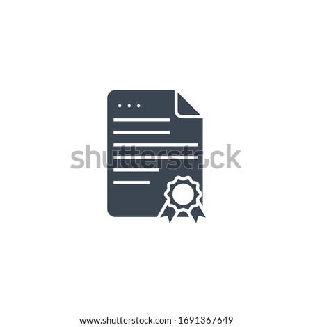 Bizonyítvány vektor ikon izolált fehér üzlet Stock fotó © smoki