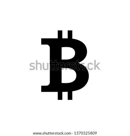 Bitcoin basit siyah ikon gölge teknoloji Stok fotoğraf © evgeny89