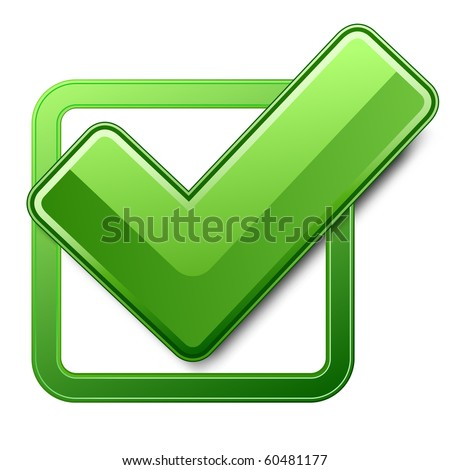Golden green square check mark 3D Stock photo © djmilic