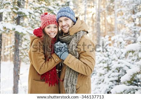 Couple In Winter Park Stock photo © Pressmaster