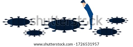 Businessman looking down Stock photo © photography33