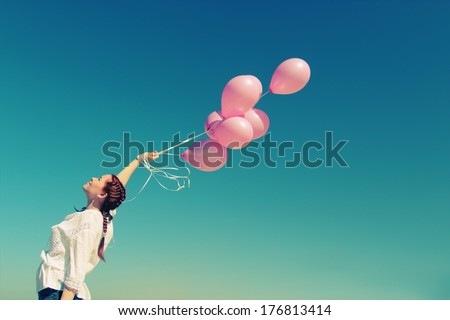Young woman day dreaming and smiling Stock photo © bmonteny