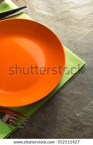 оранжевый зеленый пластина зрелый изолированный белый Сток-фото © vtls