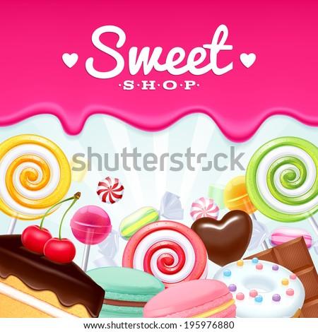 Sweet cake background Stock photo © vtls