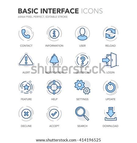 Descargar azul vector icono diseno digital Foto stock © rizwanali3d
