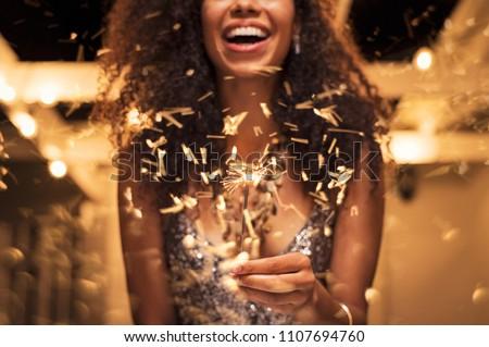 Stock photo: Gorgeous female on party