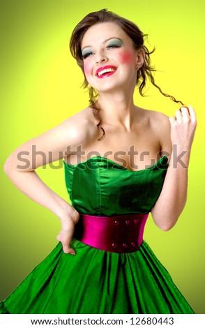 beauty fashion brunette model portrait elegant lady in luxuriou stock photo © victoria_andreas