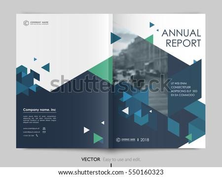 Modern fehér kék brosúra éves jelentés Stock fotó © SArts