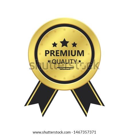 top rated quality premium golden label design Stock photo © SArts