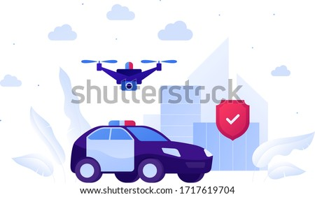 Robot Protecting Blue Car Stock photo © AndreyPopov
