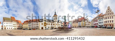 main square in Freiberg, Germany Stock photo © borisb17
