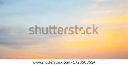 Gyönyörű felhőkép naplemente narancs égbolt bolyhos Stock fotó © vapi