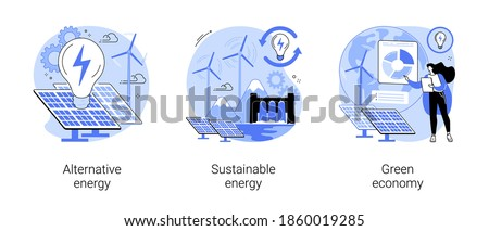 Environment friendly economy vector concept metaphors Stock photo © RAStudio