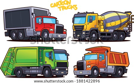 Vector Cartoon Dump Truck. Stock photo © mechanik