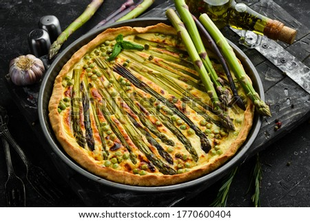 Asparagus tart Stock photo © Alex9500