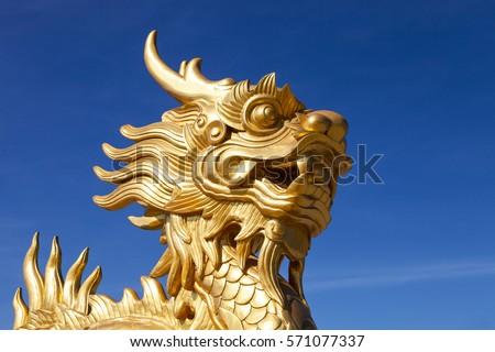 Arany sárkány Vietnam szobor bent királyi Stock fotó © bloodua