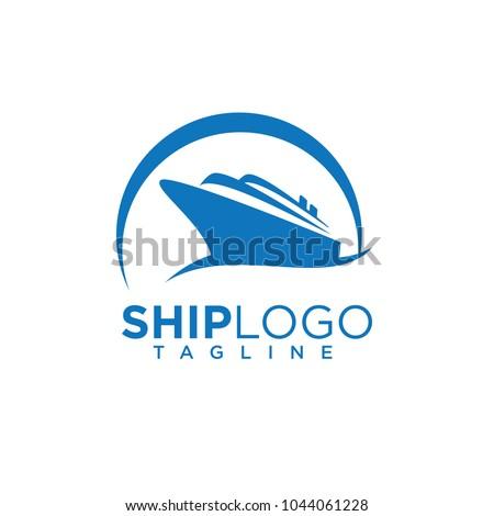 Cruiseschip logo sjabloon vector icon ontwerp Stockfoto © Ggs