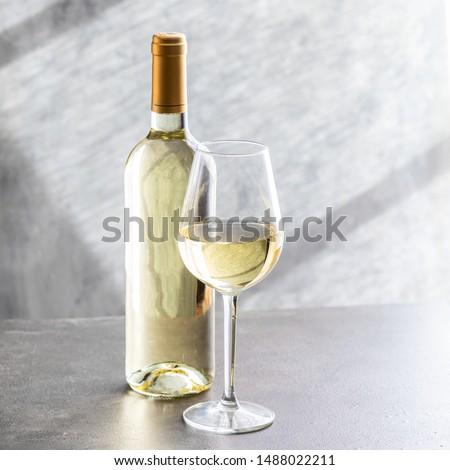 Fles witte wijn fles witte wijn partij diner zwarte Stockfoto © hanusst