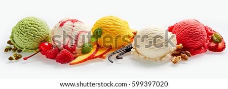 ice cream and berry stock photo © m-studio