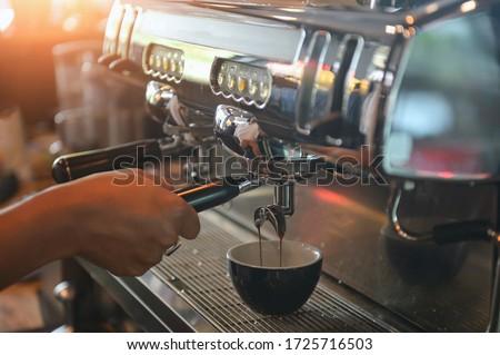 Italiano café expreso café blanco mesa de madera fondo Foto stock © keko64