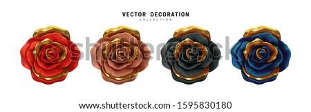 金属 · 花 · 抽象的な · デザイン · 青 - ストックフォト © clearviewstock