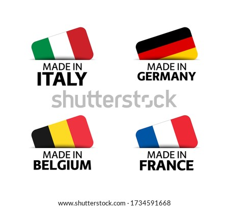 Franciaország Belgium zászlók puzzle izolált fehér Stock fotó © Istanbul2009