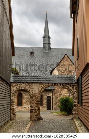 şehir duvarlar kule bölge duvar binalar Stok fotoğraf © compuinfoto