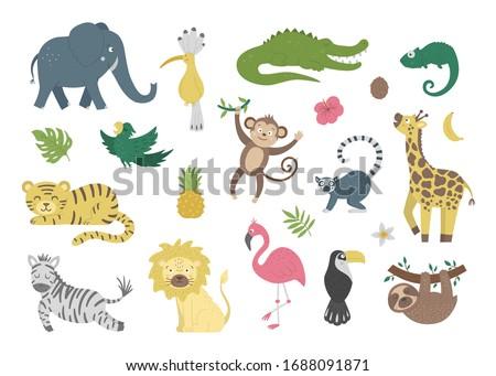 Vektor rajzolt állat clip art clipart aligátor gator Stock fotó © VetraKori