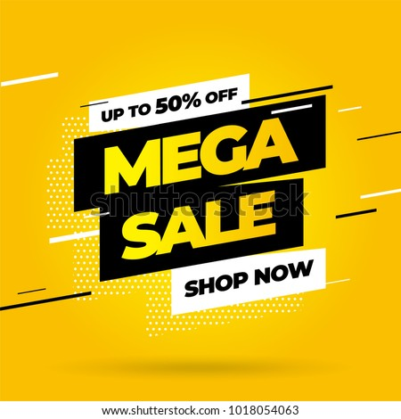 mega sale promotional banner design Stock photo © SArts