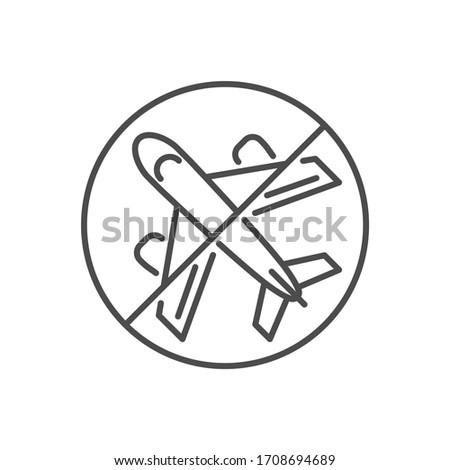 Avoid travel related vector thin line icon. Stock photo © smoki